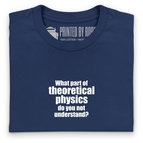 Theoretical Physics T-Shirt, Herren Dunkelblau