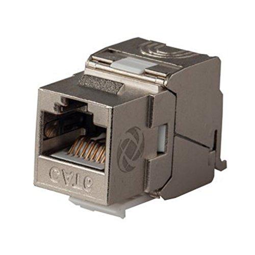 AIXONTEC 4 Stück Cat6A RJ45 Netzwerk Buchse geschirmt Ethernetkabel LAN Verbinder RJ-45 Module für Patchpanel, Wandosen etc. geeignet für Cat.7 - Cat.6A - Cat.6 - Cat.5 e - 5e Keystone-koppler