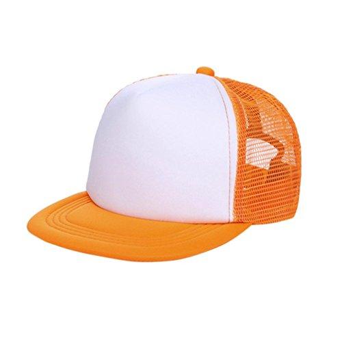 er Hüte, Kinder Baby Jungen, Sun Hat Cap Atmungsaktiv Show Hat Farbe Mesh Baseball Caps Hüte für Mädchen 3-8Jahre Alt, Kinder, Orange ()