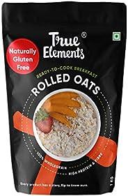 True Elements Rolled Oats 1kg - Gluten Free Oats, Oats for Breakfast, Diet Food for Weight Loss
