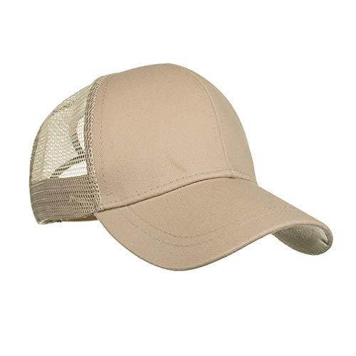 amen, Pferdeschwanz Cap Caps Damen Dame Baseball Kappe Hip-Hop-Hut Kappe Basecap Bequeme Cap Hüte Mützen (54-62cm, Beige) ()