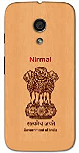 Aakrti Back cover With Government of India Logo Printed For Smart Phone Model : Samsung Galaxy S-6 EDGE PLUS.Name Nirmal (Clean, Pure ) Will be replaced with Your desired Name