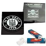 FC St. Pauli Aufkleber Set Heckscheibe Totenkopf & Transparent + 2X FANERGY Traubenzucker