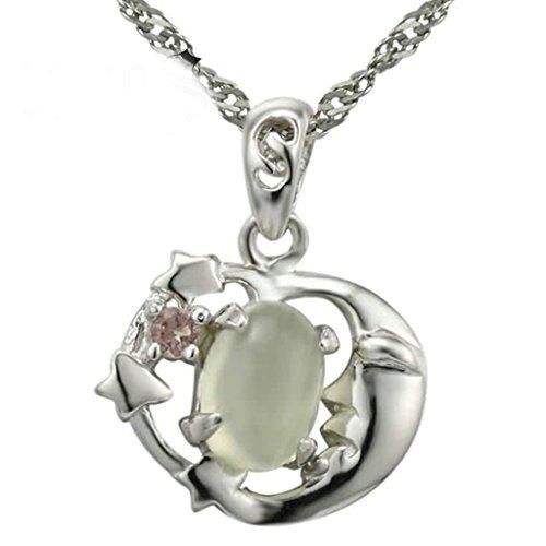 Gnzoe Schmuck Damen Halskette 925 Sterling Silber Kristall Herz Form Anhänger Damenkette Brautschmuck Kette Silber Größe 1.3x1.4 CM mit (Hund Kostüme Religiöse)