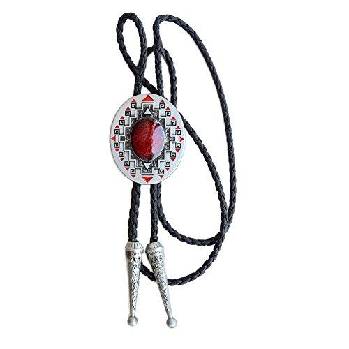 FYX - Corbata Bolo - para Hombre Rojo Talla Única
