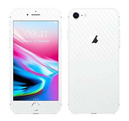IPHONE 8 WEISS CARBON FOLIE SKIN ZUM AUFKLEBEN bumper case cover schutzhülle i phone (Iphone 4 Gold Aufkleber Skin)