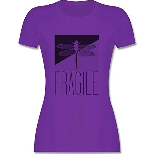 Statement Shirts - Fragile - Libelle - tailliertes Premium T-Shirt mit Rundhalsausschnitt für Damen Lila
