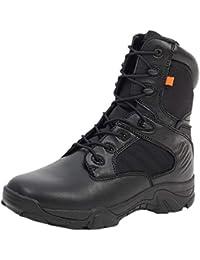 Uirend Zapatos Calzado Trabajo Botas Servicio Militar Hombre - Hombres Tactical Zipper Boots Ejército Combate Patrulla Táctica Cadete Seguridad Militar Policía