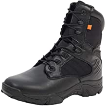Uirend Zapatos Calzado Trabajo Botas Servicio Militar Hombre - Hombres Tactical Zipper Boots Ejército Combate Patrulla