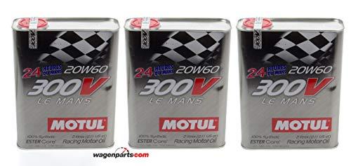Motul Olio Motore Competizione 300V Le Mans Racing Motor 20W-60, Pack 6 Lit