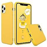 Peakally Funda iPhone 11 Pro, Carcasa Amarillo TPU Suave Funda para iPhone 11 Pro Funda Flexible Ligero Fundas [Resistente a arañazos] [Ultrafina Delgado]-Amarillo