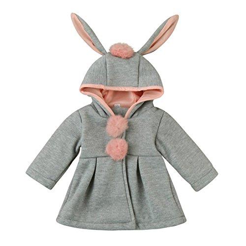 Mantel Mädchen Kolylong® 1 PC (9 Monate -4 Jahre alt) Baby Mädchen Herbst Winter Hoodies Mantel Warm Dick Jacke Sweatshirt Kinder Oberbekleidung Warme Kleidung (110CM (30 Monate- 4 Jahre alt), (Jahr Alt Kostüme 1)