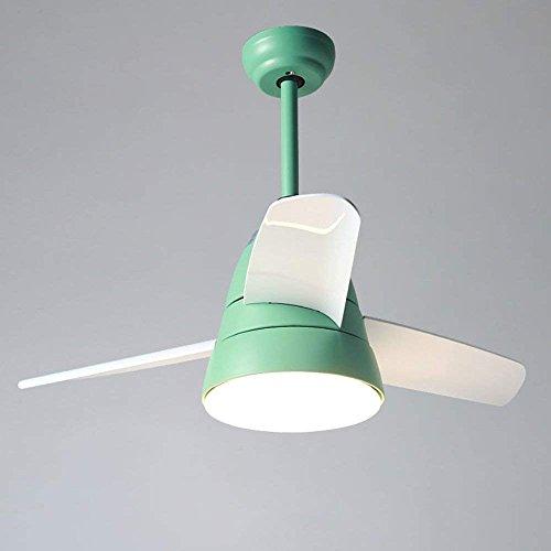 SED Nordic-Stil Fan Fernbedienung dimmbar Eisen Acryl Schatten Hohe Durchlässigkeit Kronleuchter Mode Restaurant Wohnzimmer Lichter LED-Deckenventilator Lichter,# 2-66cm