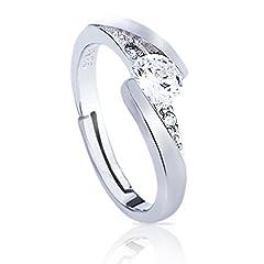 Idea Regalo - ELABOS ✨ Anelli donna / ragazza Argento S 925 regolabili : fidanzamento, amicizia, amore, eventi