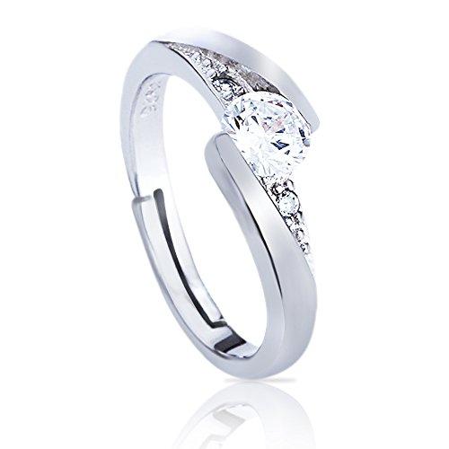 Elabos ✨ anelli donna / ragazza argento s 925 regolabili : fidanzamento, amicizia, amore, eventi