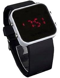TOOGOO(R) Montre de Ecran noir Affichage numerique de LED rouge avec une Bordure blanche