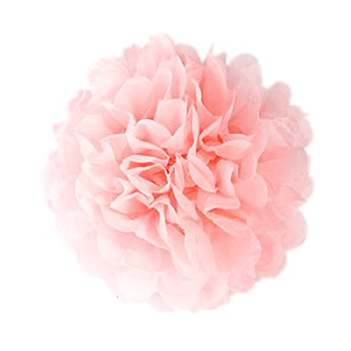Seidenpapier Poms Ziehen Blumen Kugeln Weihnachtsfest-Braut Props ()