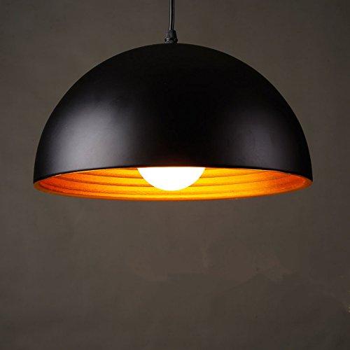 WYMBS Luce del pendente decorazione mobili Semi-cerchio in alluminio lampada LED luce (40 cm) , black