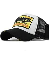 gorras beisbol, Sannysis Gorra para hombre mujer Sombreros de verano gorras de camionero de Hip Hop Impresión bordada, talla única (Negro)