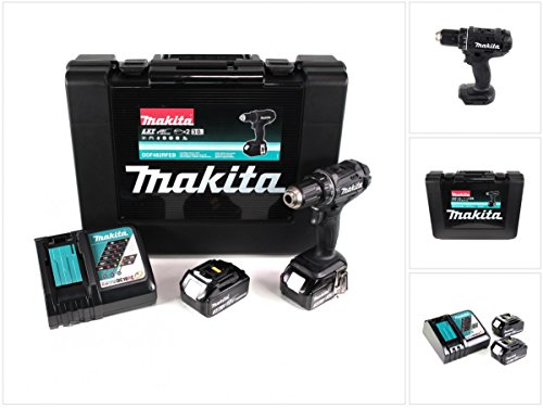 Makita DDF482RFEB Akku-Bohrschrauber im Transportkoffer DDF 482 RFEB 2x18,0V-LI 3,0Ah, 1 W, 18 V, Schwarz