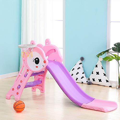 JAYLONG Kinderkunstrutsche, Faltbare 1,8 m Super Long Slide mit Sicherheits-Handschiene mit freundlichem PE, Sturdy Toy Indoor für Kids Fun,B