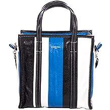 Balenciaga Mujer 513990DE9BN6460 Azul/Negro Cuero Bolso Tipo Shopper