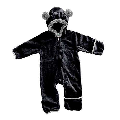 Funzies Fleece leichte Jacke - Winter Pyjama Oberbekleidung für Baby 18-24 monate Schwarzer Bär (Schwarze Bären Kostüm)