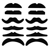 Packung von 12 gefälschte Schnurrbärte, Neuheit und Spielzeug für Halloween, Partys, Kinder, Geschenk, Geschenke, Erwachsene, Spaß, Geburtstag, Spiele, Movember KidsCo