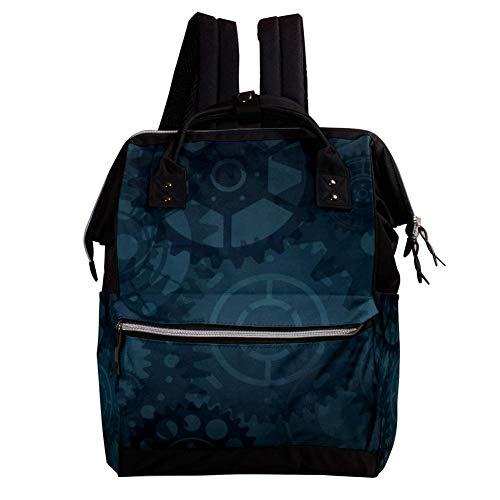Getriebe Wickeltasche Rucksack, Wickeltasche Wickelrucksack Wickeltaschen für die Babypflege Langlebig, stilvoll, große Kapazität für Mama und Papa -