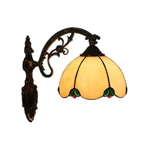 GDLight Lámpara Aplique Pared Estilo Tiffany 8 Pulgadas