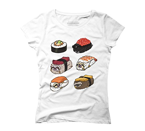 Sushi Sloths Women's Graphic T-Shirt - Design By Humans White