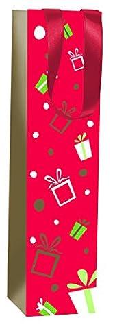 Clairefontaine 10x 10x 40cm Rouge d'Acacia Poudré Sac cadeau pour
