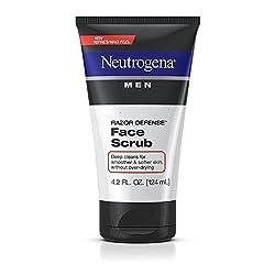 Neutrogena Men Razor Defense Face Scrub, 4.2 Ounce (Pack Of 2)