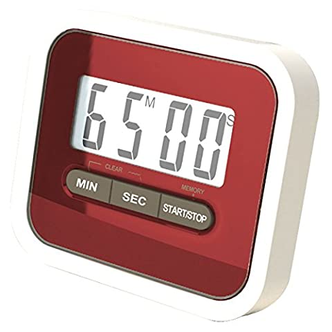 REALMAX® Magnetic Digital LCD Clock 24 Hours Kitchen Cooking Timer Counts Down and Up Clip Egg Chef Fridge Beep
