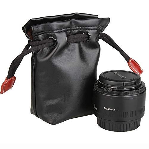 Shuo lan Kamerazubehör Weiches PU-Leder + Villus-Aufbewahrungstasche mit Stay Cord-kompatibler Kameralinse, Größe: 70 mm x 60 mm x 130 mm (Artikelnummer : S-DCA-3234A)