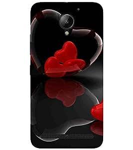 For Lenovo C2 :: Lenovo C2 Power Heart, Black, Amazing Pattern, Great pattern, Printed Designer Back Case Cover By CHAPLOOS