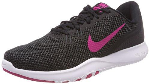 Nike W Flex Trainer 7, Zapatillas de Gimnasia para Mujer, Negro (Negro/Rosa Letal/Anthracite 004), 36.5 EU