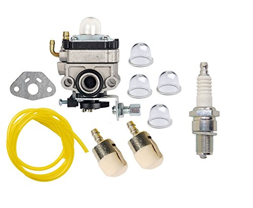 Honda Mantis Tiller (OuyFilters Carburetor Carb Kit with Primer Bulb Fuel Line Filter for Honda GX22 GX31 FG100 Mantis Tiller String Trimmer Brush Cutter)