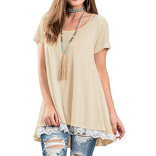 Womens Short Sleeve kalte Schulter Tops Casual Plain T-Shirt Twist Knot Weiß L