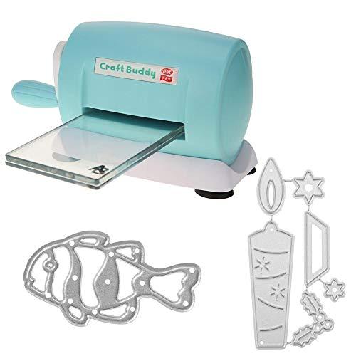 occitop Machines coupées à l'emporte-pièce + Matrices de découpage en Relief Outil de Carte de Coupe-Papier