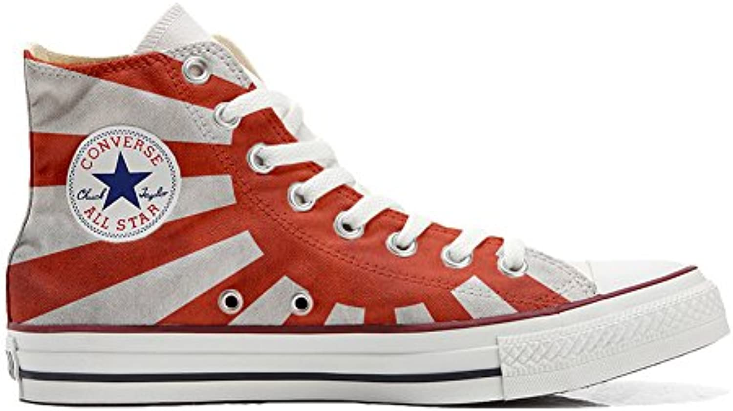 Shoes Custom Converse All Star  personalisierte Schuhe (Handwerk Produkt) Japan Flagge