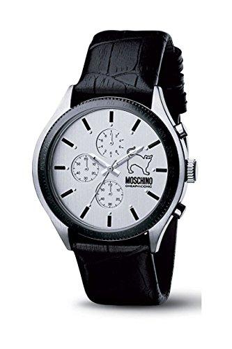 Moschino - MW0067 - Montre Homme - Quartz - Analogique - Chronographe - Bracelet Cuir Noir