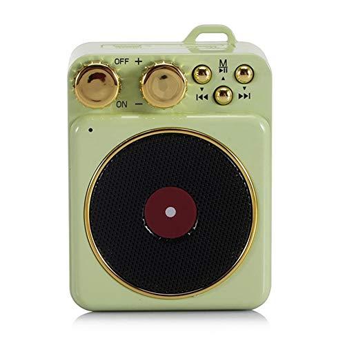 feicahnghao SpeakerPortable Retro-Bluetooth-Lautsprecher Atom-Plattenspieler Mini-Bluetooth-Lautsprecher Unterstützung Bass-Karte Mobile Audio TF-Einstecklautsprecher von Consumer Electronics, Blau - Plattenspieler High-fidelity