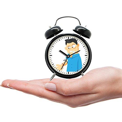 Kid tragbare Teen Mini niedliche Twin Bell Analog Wecker Geschenk mit benutzerdefinierten Cartoon-045. Blood Test von houstondwi_photos Blood Test von houstondwi_photos