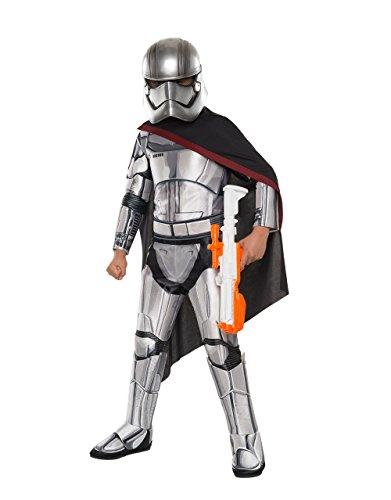 Der Force weckt Kostüm, Kinder Star Wars Super Deluxe Captain Phasma Outfit, groß, Alter 8–10Jahre, Höhe 4'20,3cm–5' 0cm (Phasma Star Wars Kostüm)