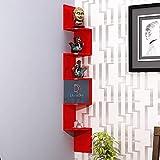 DecorDen Zigzag Floating Wall Mount Wall Shelf Corner Stand   Corner Shelf   Side Shelf   Book Shelf  Shelf Unit   Racks And
