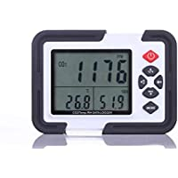 PerfectPrime CO2000 Carbon Dioxide (CO2) Air Temperature & Humidity Data Logger Meter & Monitor with LCD Display & USB Data Transfer to PC for Data Analysis & Storage