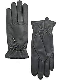 YISEVEN Guantes de cuero suave Señora cálida Otoño Invierno guantes ...