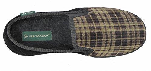 Dunlop Lancs, Pantofole Da Uomo Verde Oliva / Nero