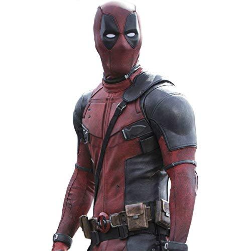Kostüm X Frauen Men - QWEASZER clothing Marvel X-Men Deadpool Wade Wilson 1: 1 Kostüm Superheld Rot und Schwarz Leder Overalls Cosplay Kostüm Erwachsene Halloween Karneval Anpassbare Größe,Deadpool-Custom Size